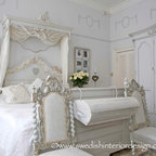 swedish gustavian living room - american traditional - living room