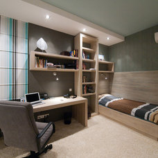 "Contemporary Home Office by Architectural Studio ""Didencul Project"""
