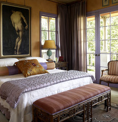 mediterranean bedroom by Peggy Braswell