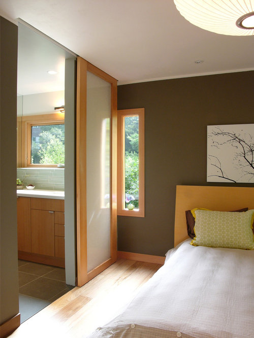 bedroom design ideas remodels photos with brown walls