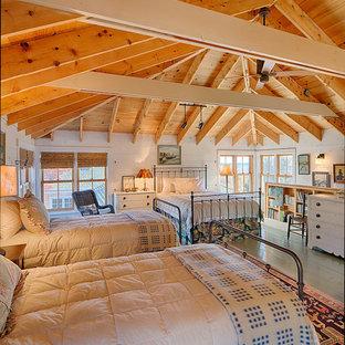 ボストンのラスティックスタイルのおしゃれな寝室のインテリア