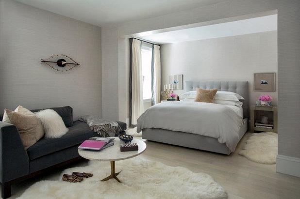 Transitional Bedroom by Tanya Capaldo Designs