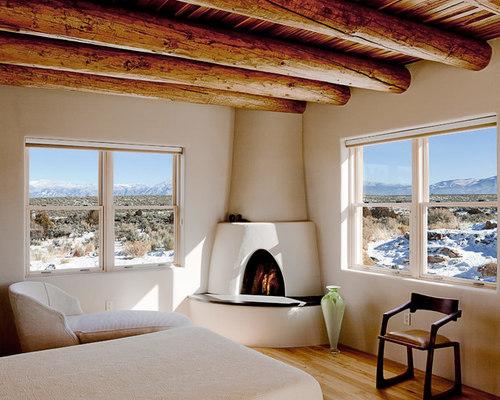 Kiva fireplace houzz for Southwestern fireplaces