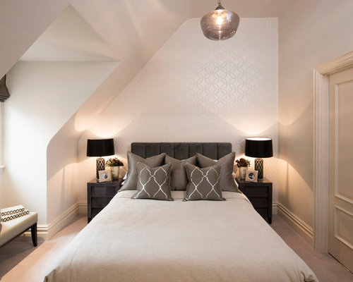 This Is An Example Of A Traditional Guest Bedroom In Berkshire With White  Walls, Carpet