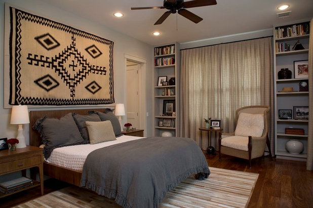 Transitional Bedroom by Laura Roberts Design