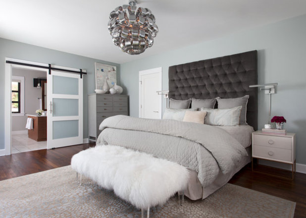 Transitional Bedroom by Robin Colton Studio