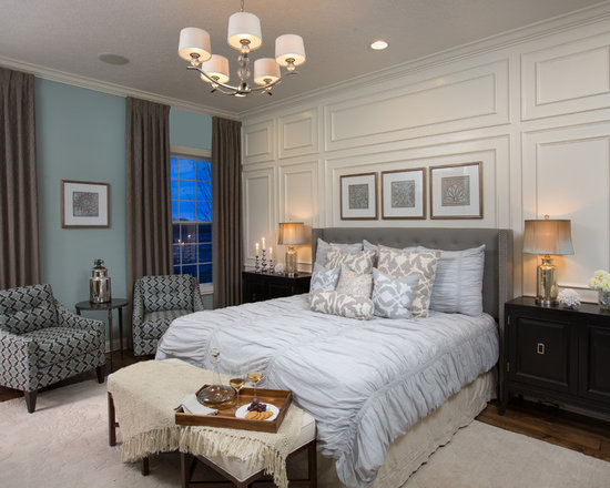 master bedroom feature wall | houzz