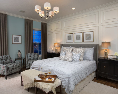 Master bedroom feature wall design ideas remodel pictures houzz - Feature bedroom wall ideas ...