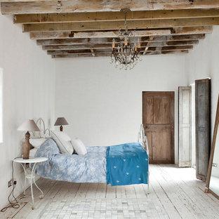 Rustic bedroom in London.