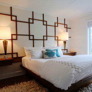 Teak Wall Pattern and Platform Bed