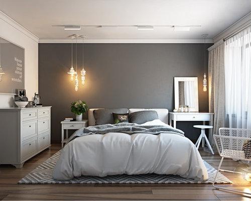 Best bedroom with linoleum floors and gray walls design - Chambre sol gris ...