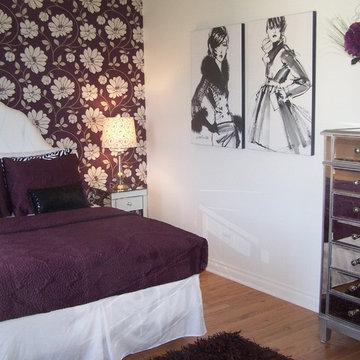 Teen Girl Fashion Bedroom in Plum