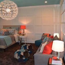 Contemporary Bedroom by M. Crisler Designs, LLC