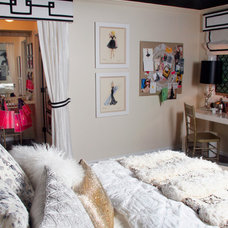 Eclectic Bedroom by michelle williams interiors