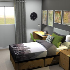 Contemporary Bedroom by Interior Design Online