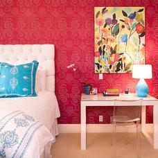 Contemporary Bedroom Teenage Girl's Bedroom