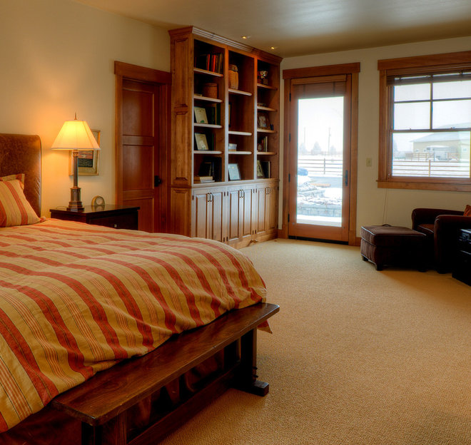 Farmhouse Bedroom by Dan Nelson, Designs Northwest Architects