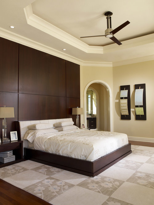Paneling Behind Bed Houzz - Bedroom paneling designs