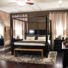 Transitional Bedroom by Fabiola Avelino Interiors