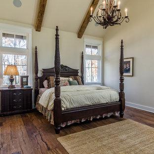 30 Trendy Rustic Dark Wood Floor Bedroom Design Ideas