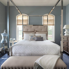Transitional Bedroom by PRINCIPLES DESIGN STUDIO INC