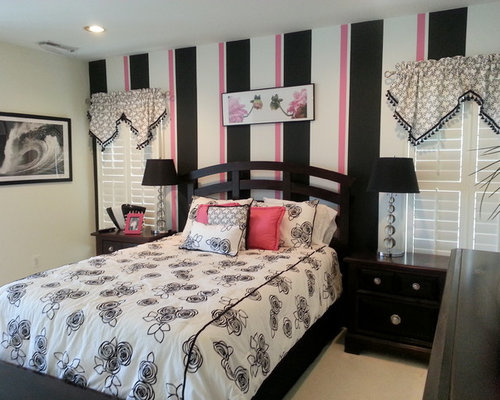 Contemporary Carpeted Bedroom Idea In DC Metro With Multicolored Walls Amazing Ideas
