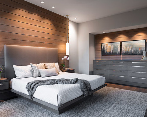 Modern master bedroom design ideas remodels photos houzz for Contemporary master bedroom designs