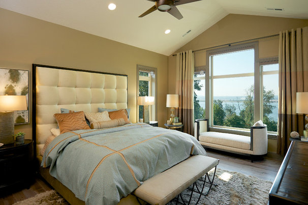 Transitional Bedroom by Urban I.D. Interior Design Services