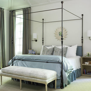 Inspiration For A Contemporary Bedroom Remodel In Atlanta With White Walls