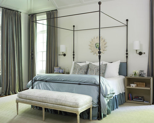 Iron Four Poster Bed wrought iron four-poster bed | houzz