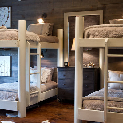Inspiration for a contemporary bedroom remodel in Other with gray walls