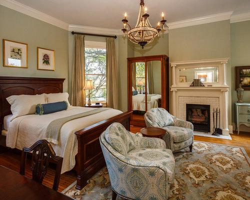 chambre victorienne avec un mur vert photos et id es d co de chambres. Black Bedroom Furniture Sets. Home Design Ideas