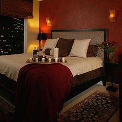bedroom by Christine Diveley Interior Design