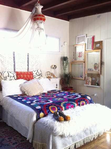 eclectic bedroom by Justina Blakeney