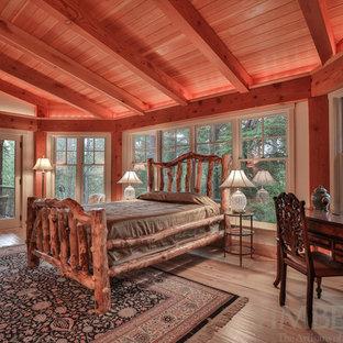 Inspiration for a light wood floor bedroom remodel in Boston