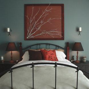 Bedroom - contemporary bedroom idea in Seattle with gray walls