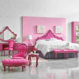 Imagen de dormitorio ecléctico pequeño