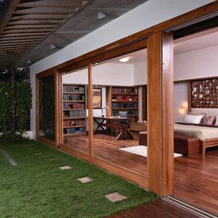 Exemple d'une chambre craftsman.