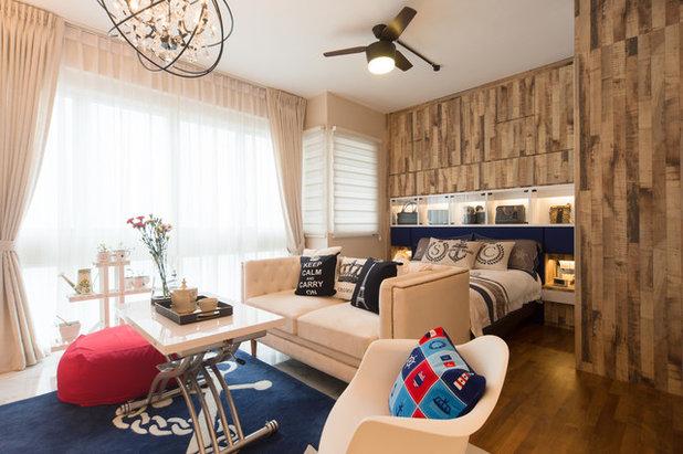 Industrial Bedroom by luxur design pte ltd