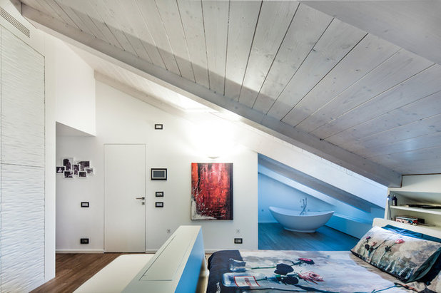 Contemporaneo Camera da Letto by Gruppo Building