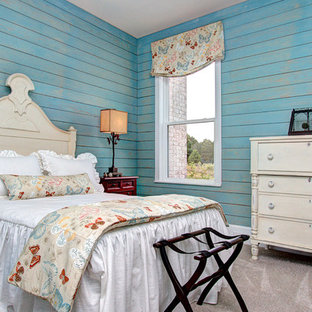 Example of a huge cottage guest bedroom design in Charlotte