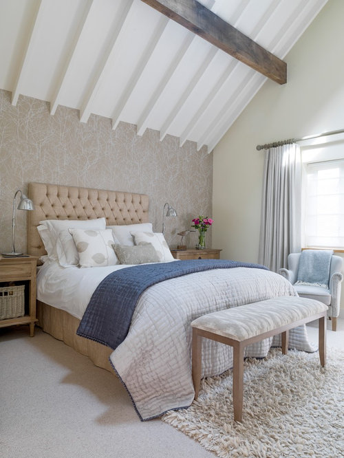 Master Bedroom Wallpaper Ideas Houzz - Wallpaper designs for master bedroom