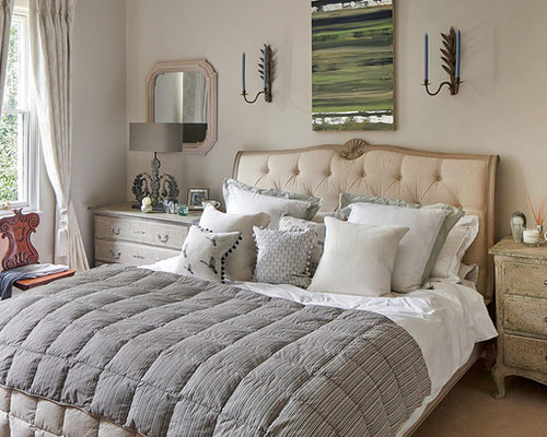 Shabby Chic Style Gray Bedroom Design Ideas Remodels