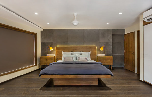 Rustic Bedroom by Studio Nishita Kamdar