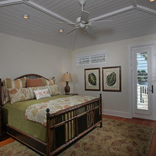 Tropical Bedroom by Foresite Homes