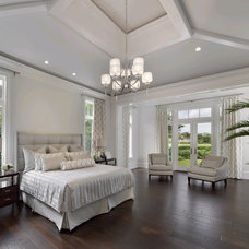 Transitional Bedroom by Clive Daniel Home