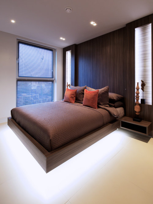 Inspiration For A Contemporary Master Bedroom In London.
