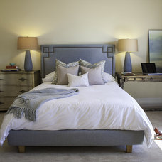 Transitional Bedroom by Kate Lester Interiors