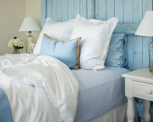 Beach Style Guest Bedroom Idea In Portland Maine