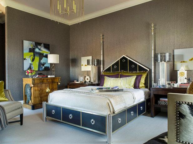 Unique Eclectic Bedroom by Brian Dittmar Design Inc